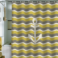 DENY Designs Home Accessories | Bianca Green Anchor 2 Shower Curtain