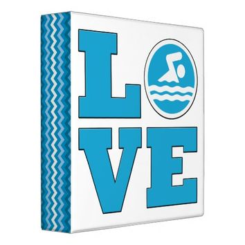 Swim Love Binder for Competitive Swimmers or Coach