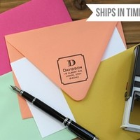 Personalized Self Inking Designer Stamps - 20 Designs