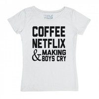 CoffeeFlix-Unisex Snow T-Shirt
