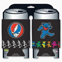 Grateful Dead - Steal Your Face & Dancing Bear 2-pk Koozie