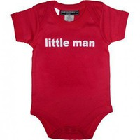 Little Man Short Sleeve Bodysuit $19