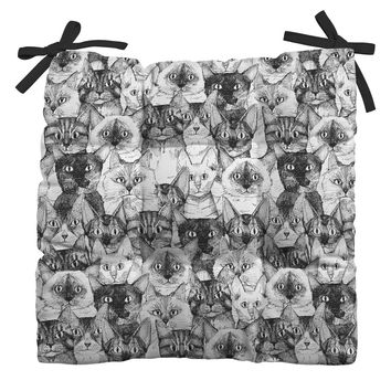 Sharon Turner just cats Outdoor Seat Cushion