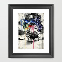 Howl's Moving Castle Framed Art Print by Sandra Inchaurraga