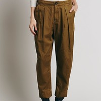 Free People Womens Extreme Slouchy Trouser - Mustard