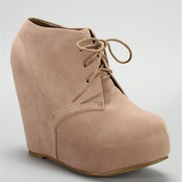 Nude Platform Booties