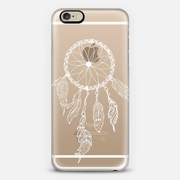 WHITE DREAMCATCHER - CRYSTAL CLEAR PHONE CASE iPhone 6 case by Nika Martinez | Casetify