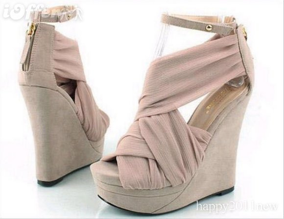 iOffer: Wedge heel ankle sandals women&#x27;s open toe platform shoe for sale