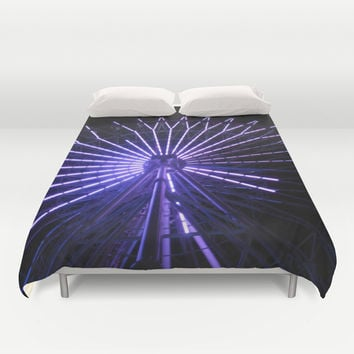 Electric Purple Sapporo Duvet Cover by Casey J. Newman