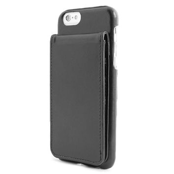 iPhone 6 Black Classic Leather wallet case