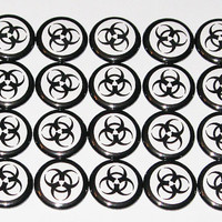Biohazard Buttons (Set of 20)