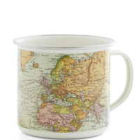 ModCloth Travel Map Out Your Morning Mug