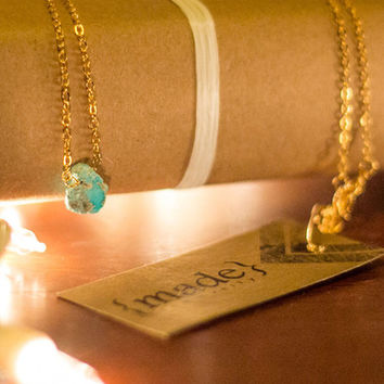 {made} community Raw Turquoise Pendant Necklace | Revival