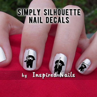 Ninja Decals Black and Clear Simply Silhouette by Inspired Nails