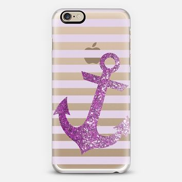 Glitter Anchor in Pink iPhone 6 case by Nika Martinez | Casetify