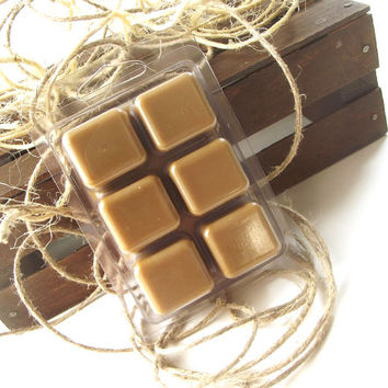 Soy Candle Tarts - Hazelnut Coffee scented Soy Candle Melts -- (6)Cubes/3 Ounces