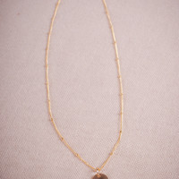 Gold Trinket Initial Necklace
