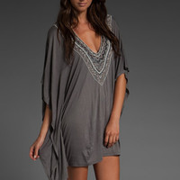 AKIKO Deep V Tunic in Smoke at Revolve Clothing - Free Shipping!