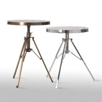 Hi-Hat Table in Antique Brass or Shiny Nickel design by Barbara Cosgrove