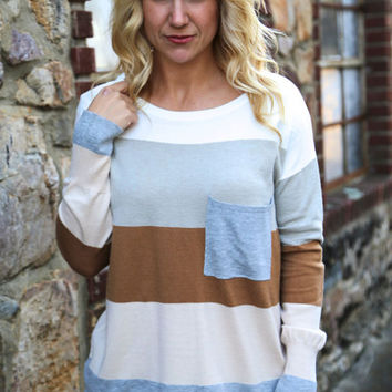 Crazy, Stupid, Love Sweater {Ivory/Camel}