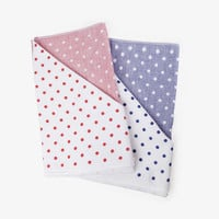 Polka Dot Chambray Face Towel