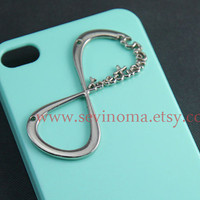 One Direction, Iphone 4 Case, Iphone 4S case, Directioner Infinity Hard Case, mint Green iphone 4 case