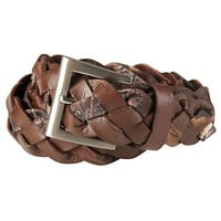Gander Mountain Womens Leather Braid Belt with Realtree AP Camo Accents-693243 - Gander Mountain