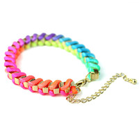 Neon Multi-Color Knit Bracelet - New Arrivals - Retro, Indie and Unique Fashion