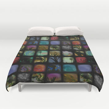 Boxed In Duvet Cover by Ben Geiger