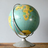 Vintage Oversize World Globe