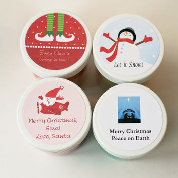 Christmas Label Party Favor, Handmade Play Dough, Scented Play Dough,  Holiday Stocking Stuffer