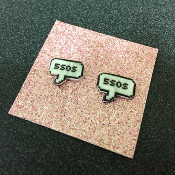 5SOS Text Bubble Earrings