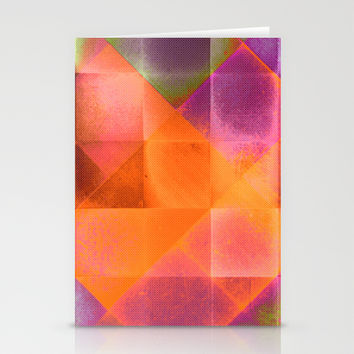 CHECKED DESIGN II-v8 Stationery Cards by Pia Schneider [atelier COLOUR-VISION]