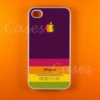 Iphone 4 Case -  Purple Green Strip Iphone Case,Iphone 4s Case