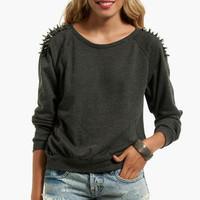 Quill Shoulder Sweater $40