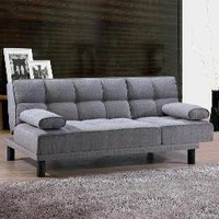 The Well Appointed House by Melissa Hawks. Soft Sofa Bed Two In One- Light Gray