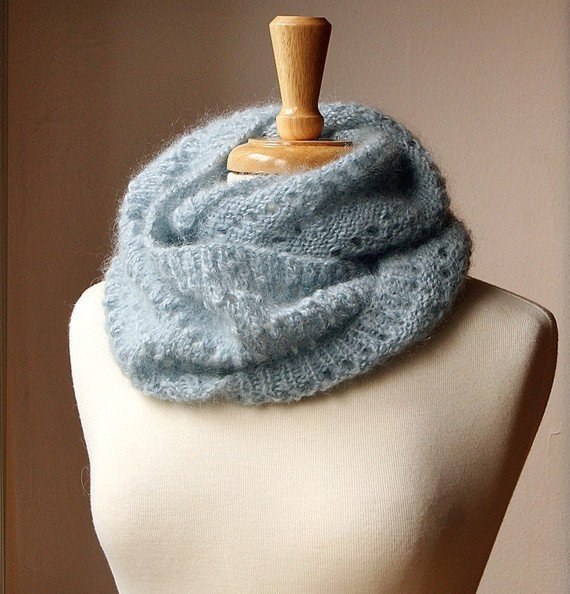 Circular Scarf Knit Pattern : Fall Winter Fashion - Snood KNITTING from AtelierTPK on Etsy
