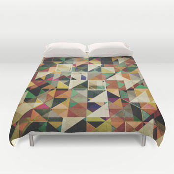 Earth Tones Abstract Duvet Cover by Phil Perkins