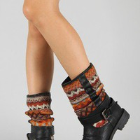 Pack-53 Tribal Print Round Toe Boot