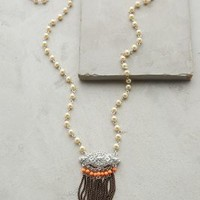 Noite Fringed Pendant Necklace by Anthropologie Pearl One Size Necklaces