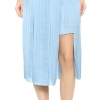 Dagmar Elba Asymmetrical Pleated Skirt