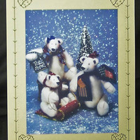 Stuffed Bear Pattern - Polar Pleasures by Homespun At Heart Designs