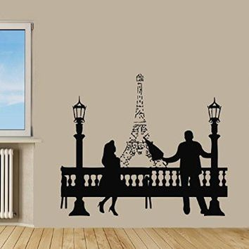 Wall decor vinyl decal sticker living from amazon for Room decor eiffel tower
