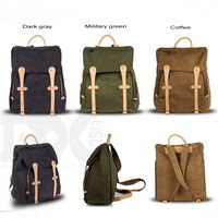 stylish canvas backpack | leather strap school pack unisex from Vintage rugged canvas bags