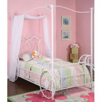 cinderella twin carriage canopy bed frame from amazon kids