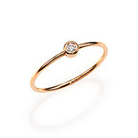 Ginette - Diamond & 18K Rose Gold Solitaire Ring - Saks Fifth Avenue Mobile
