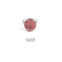 "plastique* x Paper Trail - ""YAY!"" Stamp Ring"