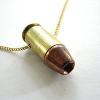 real bullet necklace - winchester .45 cailber bullet casing jewelry