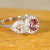 Heirloom petals ring  Pink Spinel and by TheVintageGoldsmith