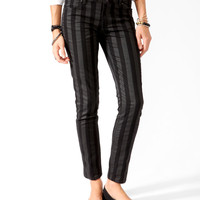 Vertical Striped Denim Skinnies